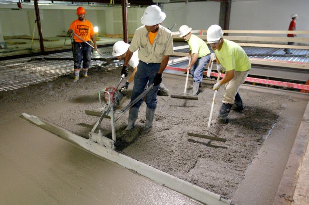 A crew from Billings Concrete