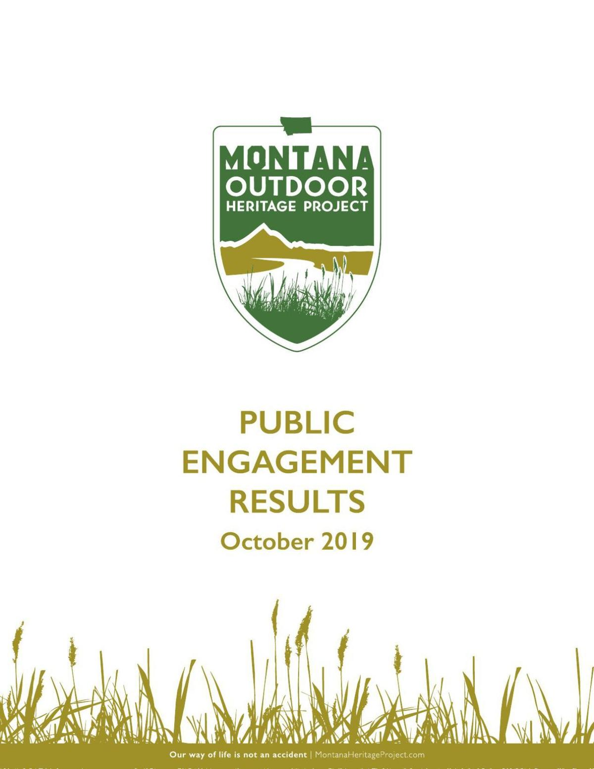 Montana Outdoor Heritage Project final report