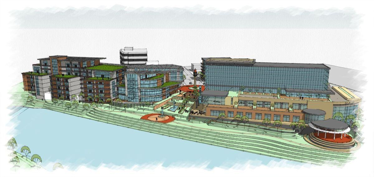 Missoula riverfront development concept