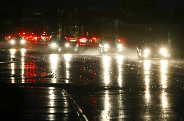 A section of Main Street in the Billings Heights was without power Thursday