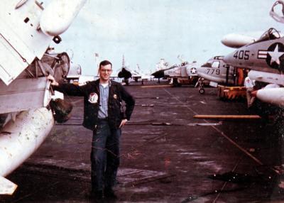 Carl Wolf on the USS Ranger