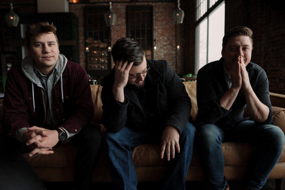 Keller Paulson, Erik Olson, and Parker Brown of Big Sky Trio
