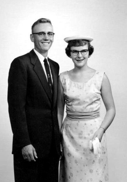 Harvey & Beverly Tripple on their wedding day in 1956