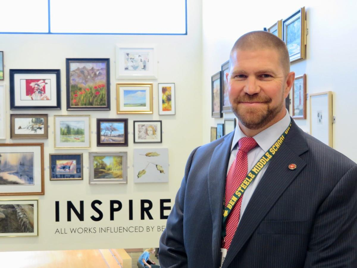 Ben Steele Middle School Principal Joe Halligan