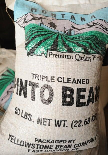 A 50-pound bag of premium beans