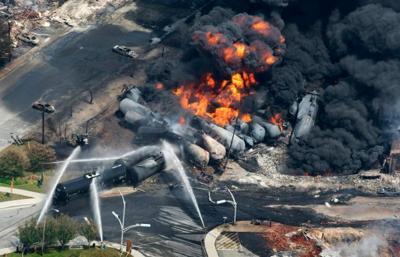 Canada rail fire
