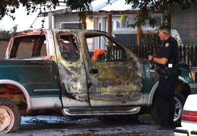 Vehicle fire damages truck on Jackson Street in Billings