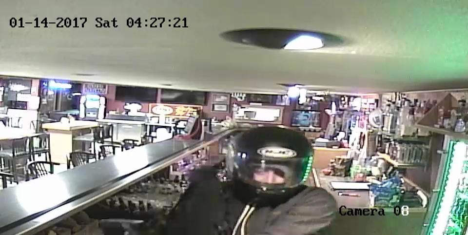 Suspect closeup, helmet