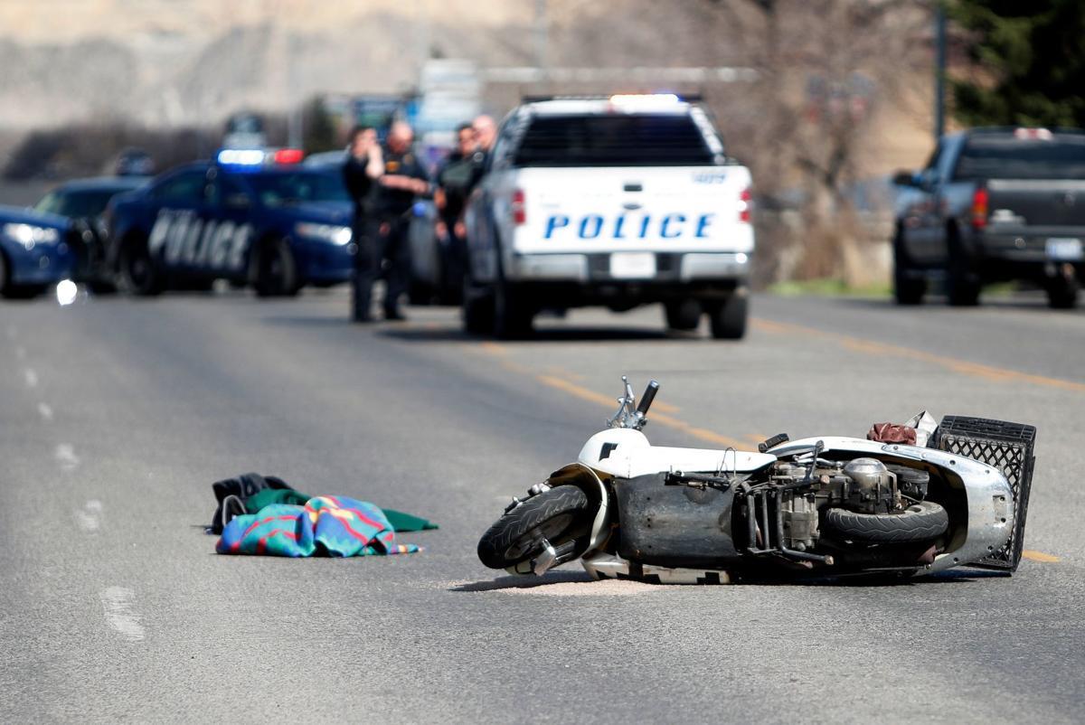 Moped crash
