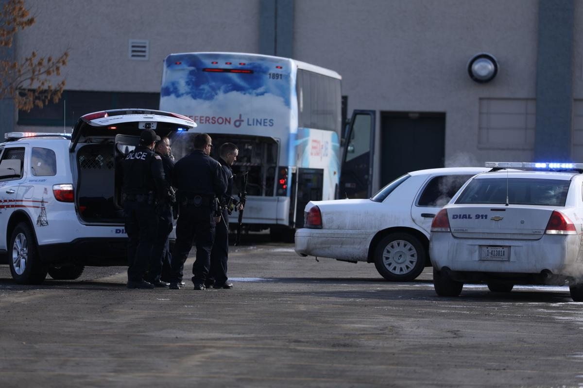 Police focus on bus