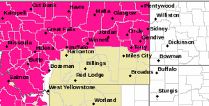 Hot, dry weather means increased fire potential for 12 Eastern Montana counties