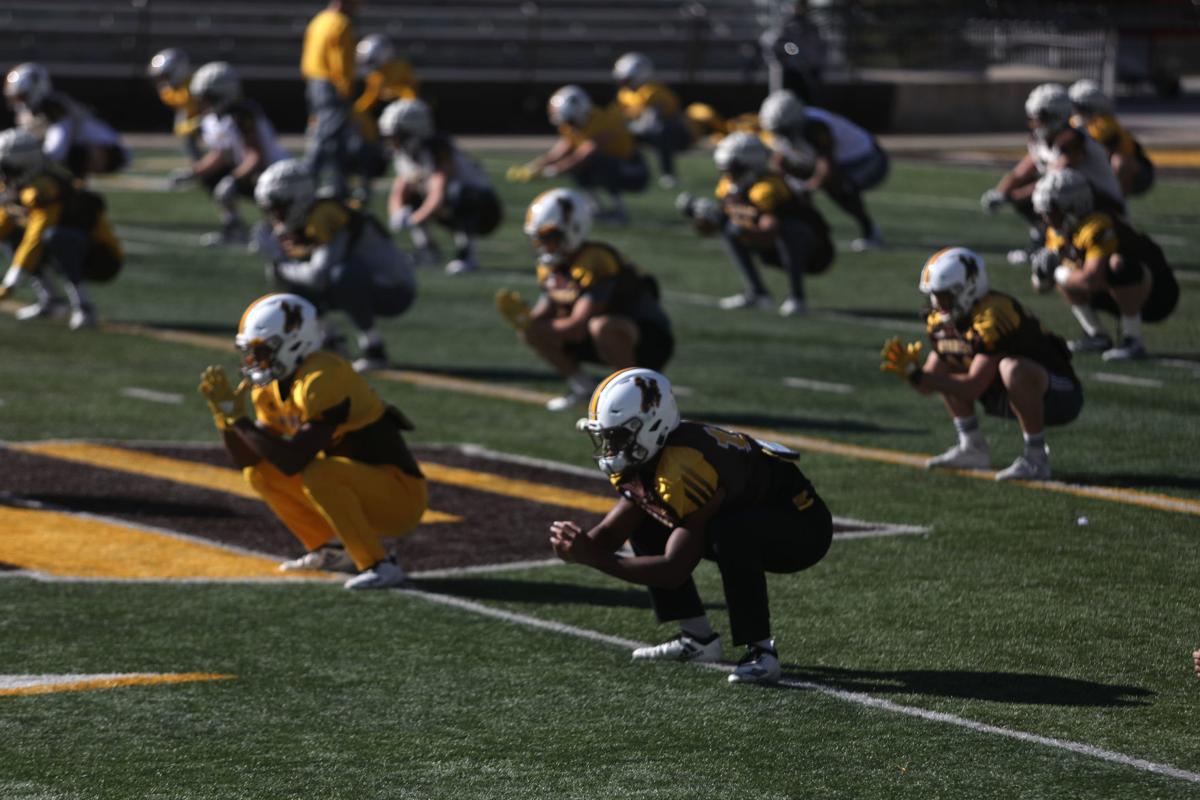 UW football practice