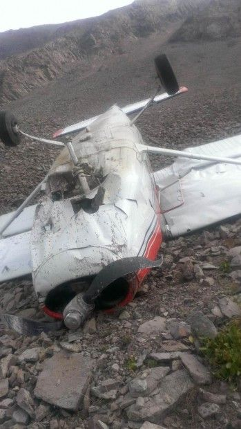 McKenzie Morgan took these photos of her wrecked Cessna 172