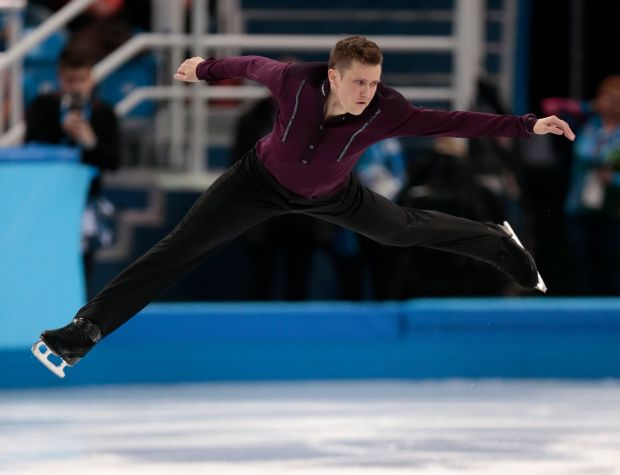 Jeremy Abbott of the United States competes