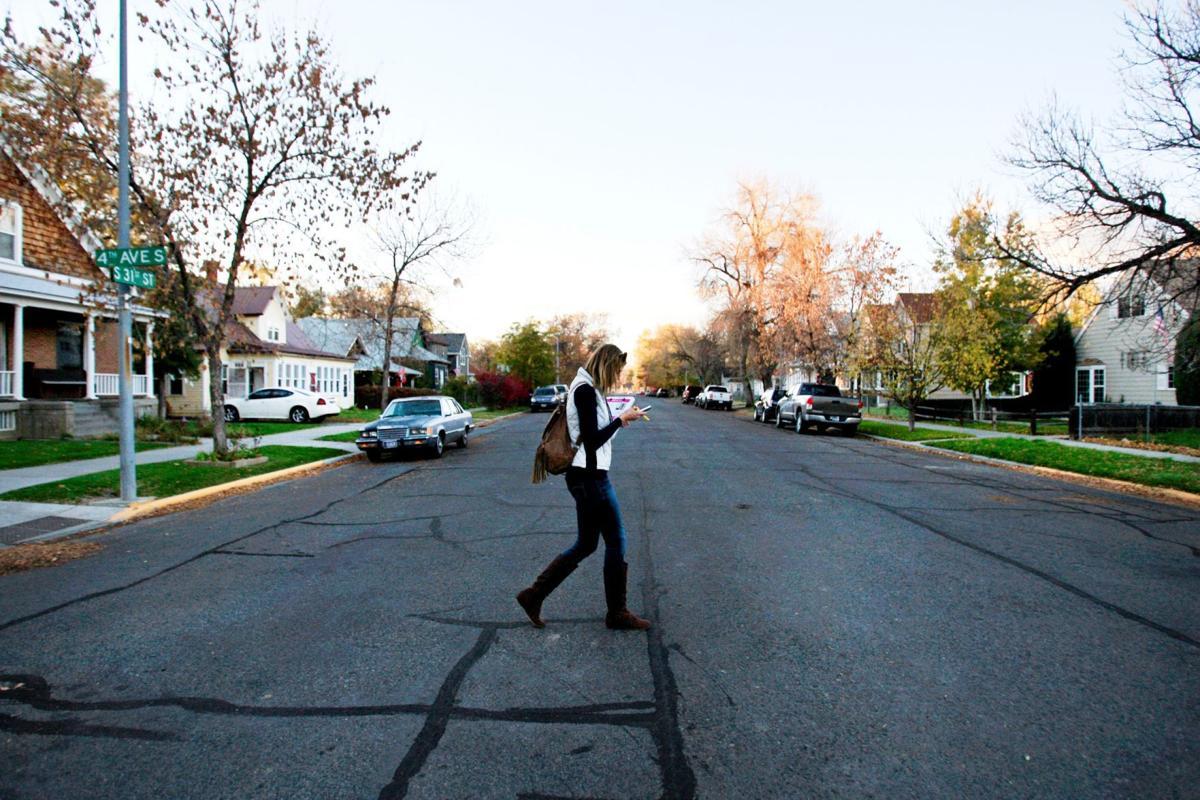 Democratic candidate Jen Gross walks door-to-door