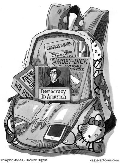 Heavy reading backpack