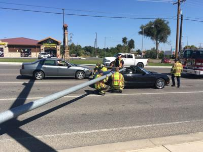 Light pole crash