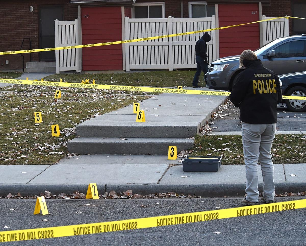Shooting scene evidence cones
