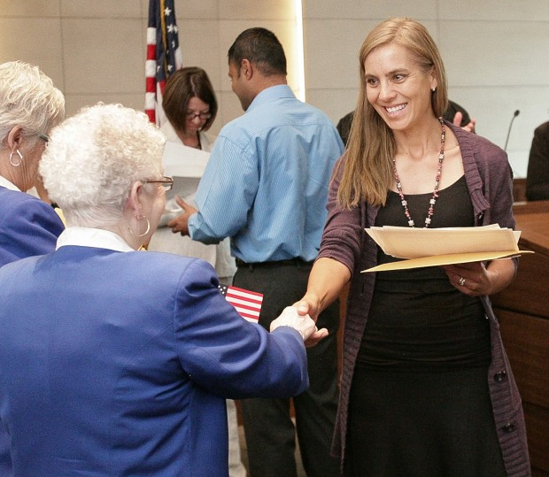 Newly naturalized United Citizen Isolde Andrea Frederick
