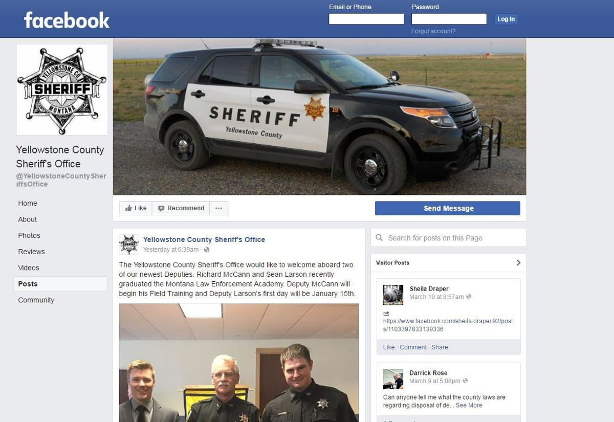 Yellowstone County Sheriff's Office Facebook