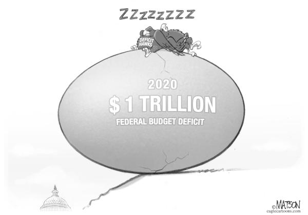 Deficit hawks stay quiet