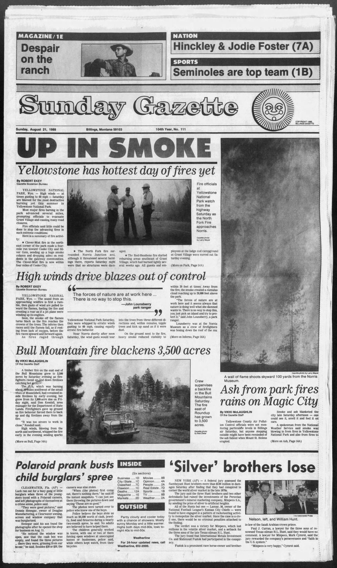 Black Saturday front page