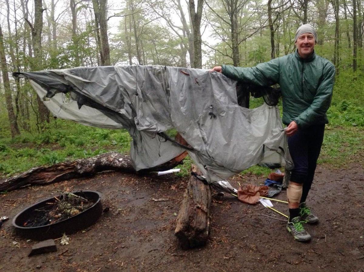 Shredded tent