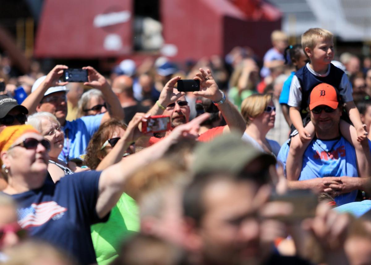 USS Billings crowd