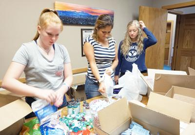 Care packages for firefighting camps