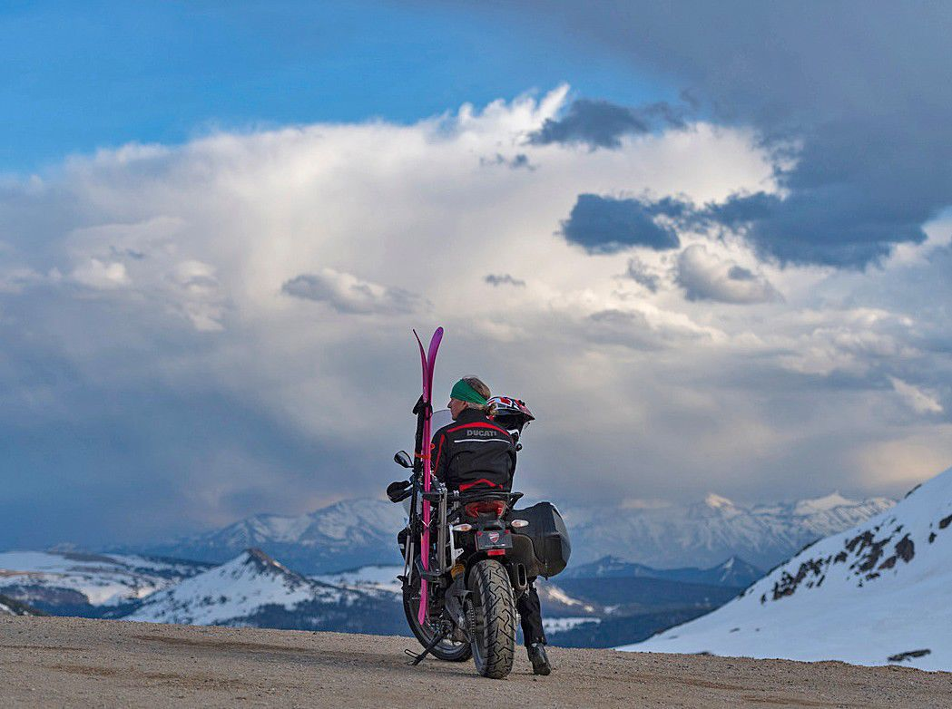 Skiing and motorcycles