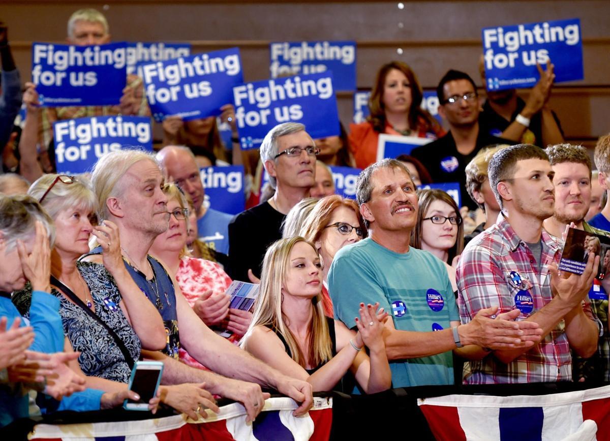 Bill Clinton speaks in Billings