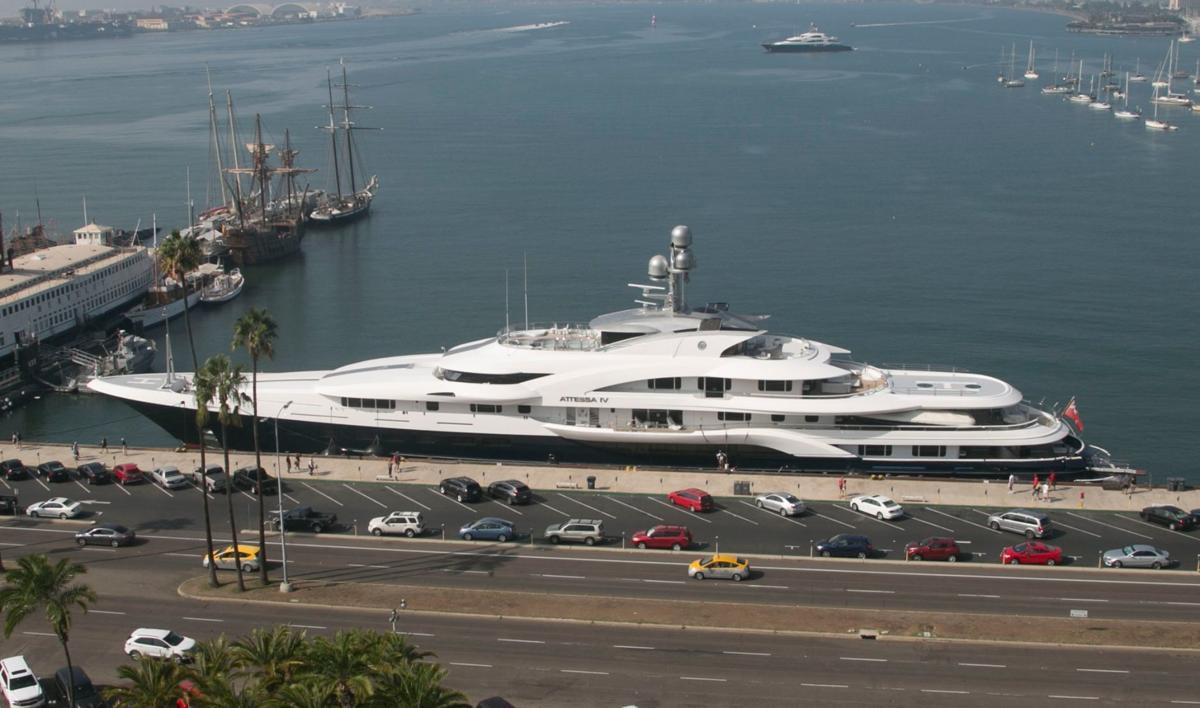 The mega yacht Attessa IV