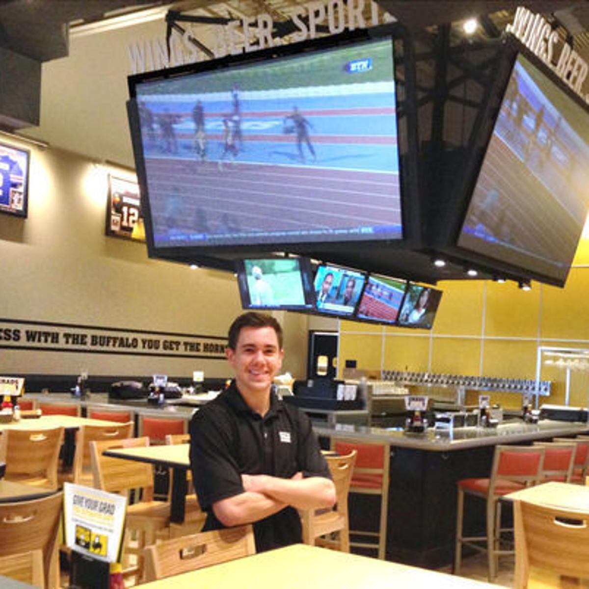 Free wings for a year! Buffalo Wild Wings opens with