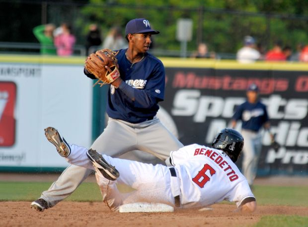 Benedetto slides into second