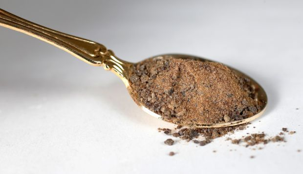 A spoonful of molasses sugar