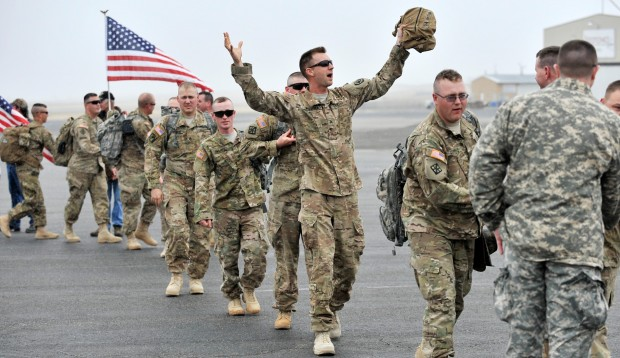 Montana Army National Guard Soldiers Return