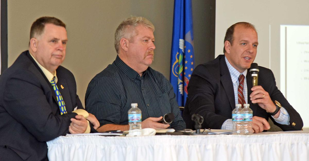 Members of a panel at the Farm Economic Summit