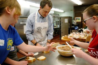Gov. Steve Bullock makes sandwiches