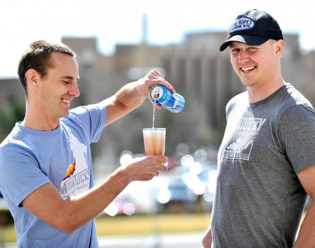 Chad Zeitner, left, and his partner Jeremy Gregory