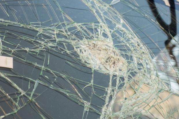 broken glass car windshield stockimage crash accident