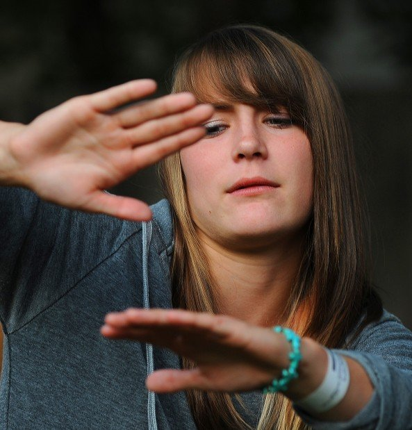 Student pilot McKenzie Morgan, 17
