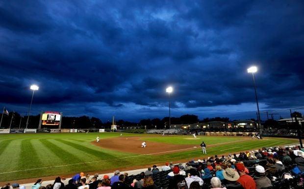 Storm clouds over Dehler Park