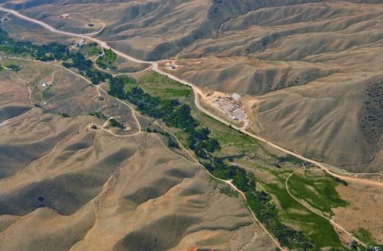 Group gives aerial view of Clark gas test site