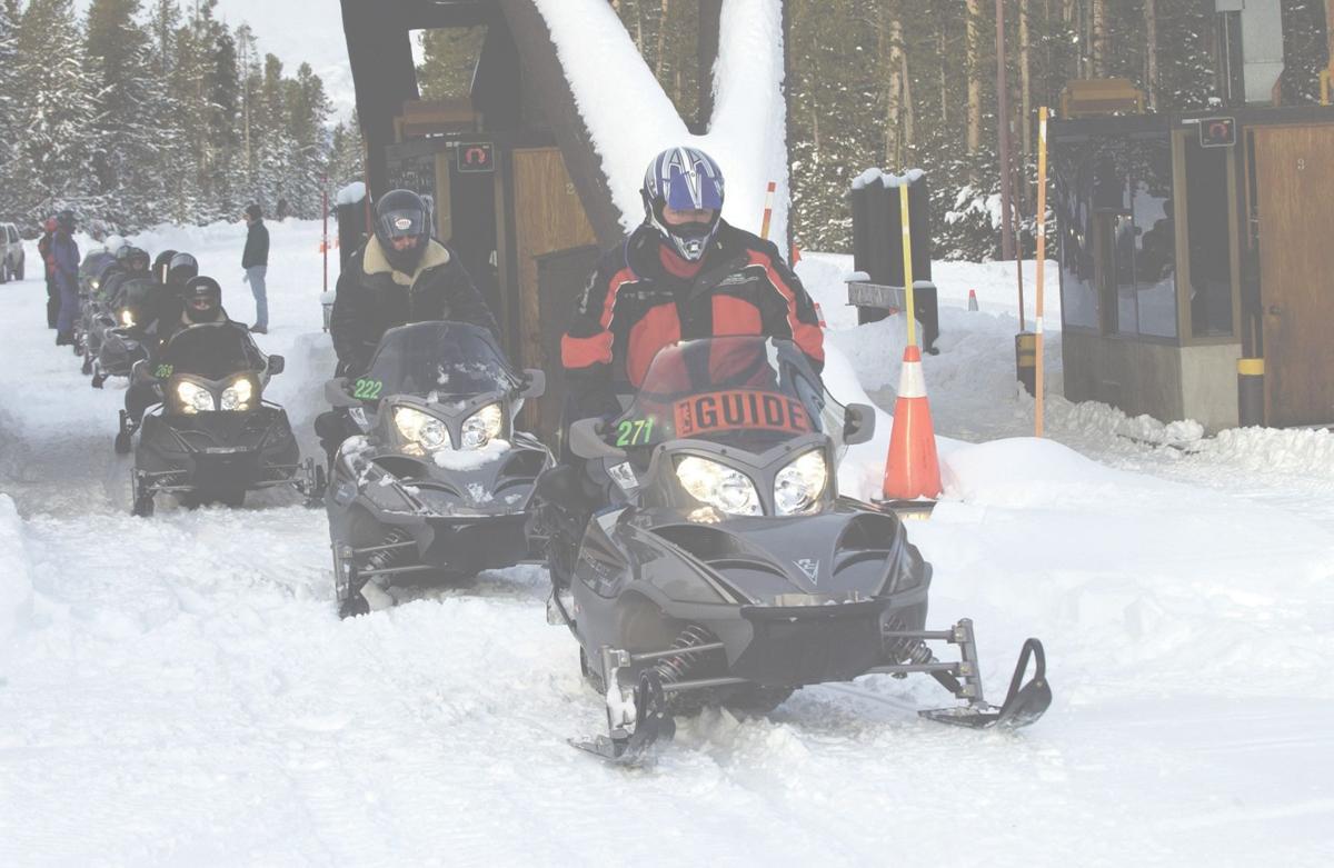 Snowmobile traffic
