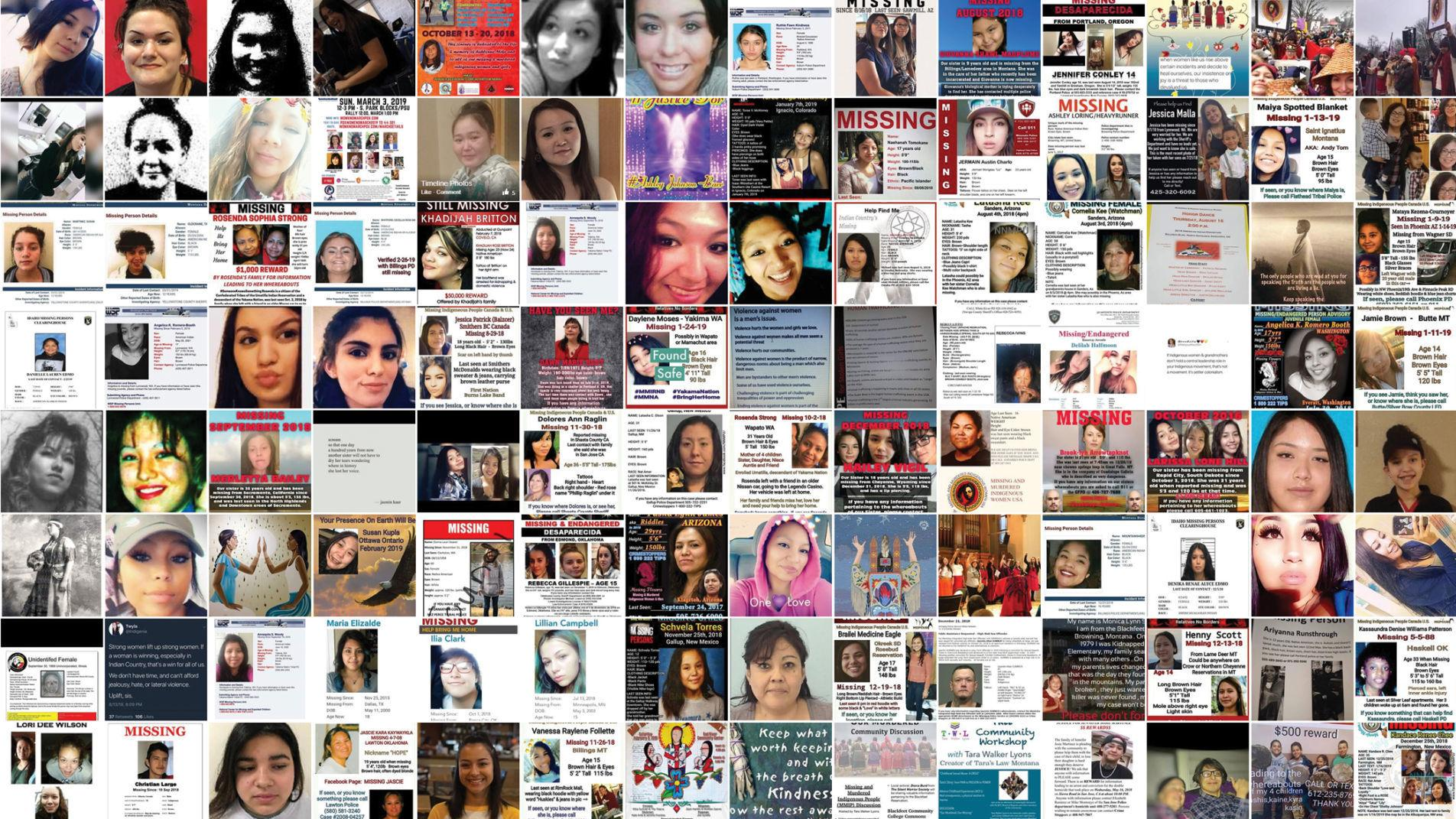 When government fails, indigenous women take their search for missing loved  ones online   Missing and Murdered Indigenous Women   billingsgazette.com