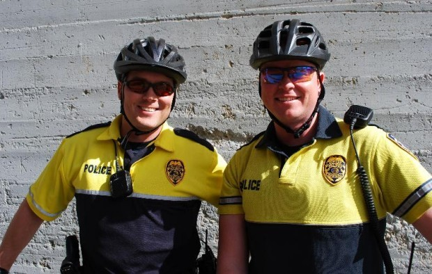 Downtown police officers