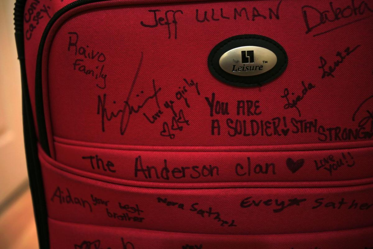 Signed suitcase