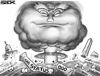Trump shakes nation up