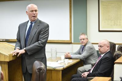 Republican congressman-elect Greg Gianforte directly addresses Guardian reporter Ben Jacobs