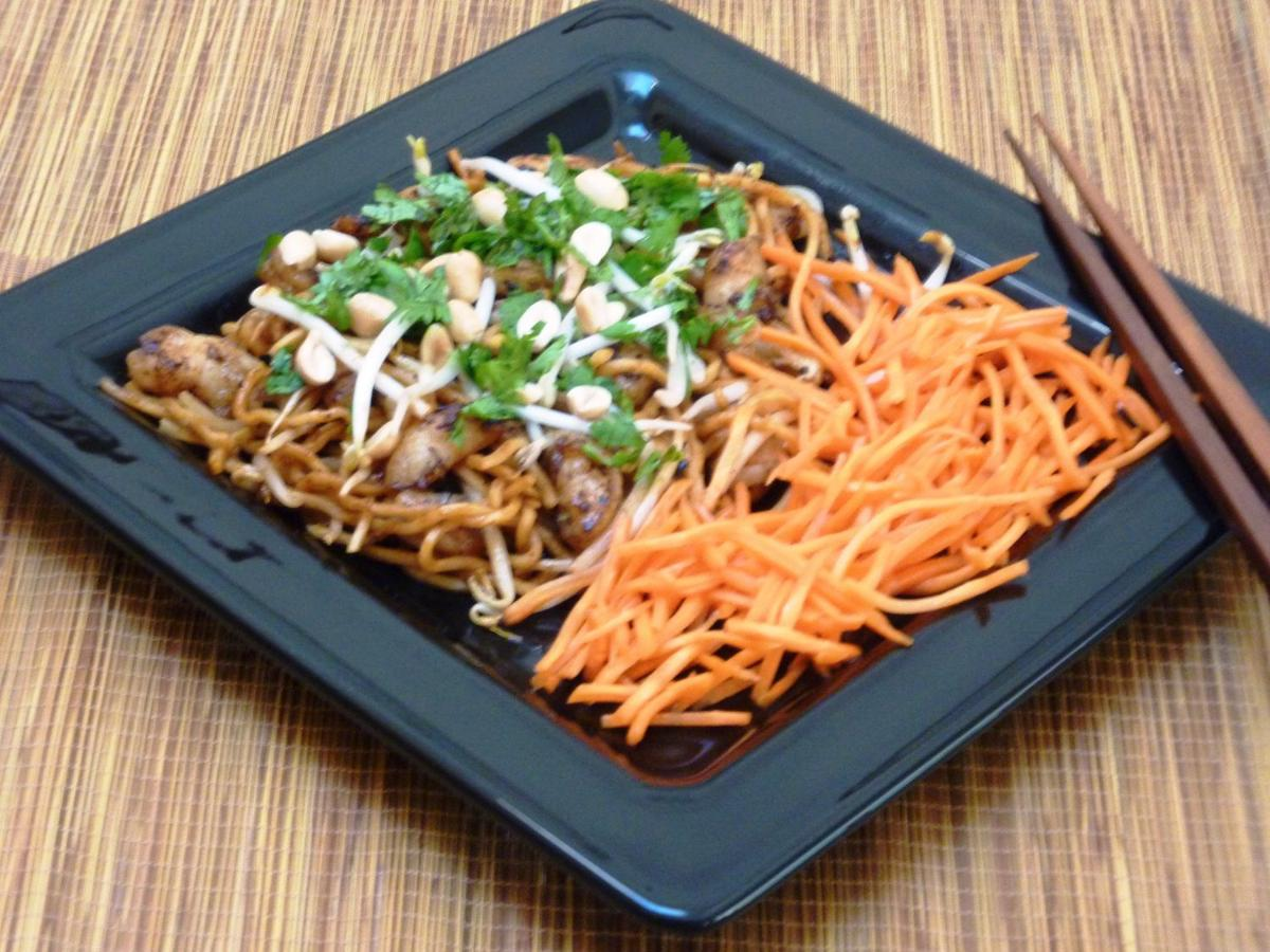 stir pasta into a spicy thai meal in a flash | recipes